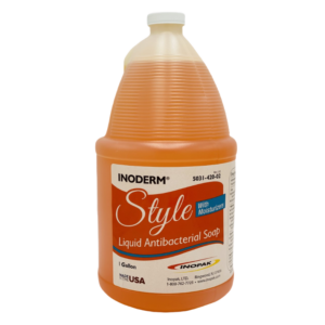 Inoderm Style liquid antibacterial hand soap with moisturizers