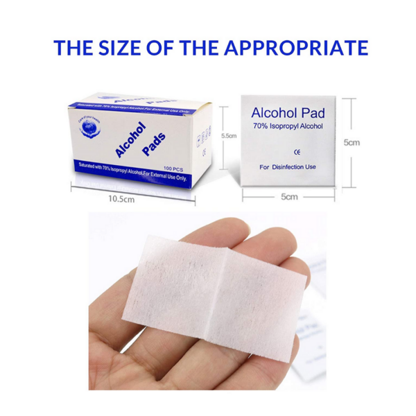 Care of your health, Alcohol Pads, 70% Alcohol, 100CT.3