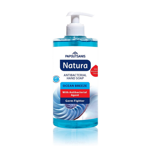 Papoutsanis, Natura, Anti Bcaterial Hand Soap, 400ml.1