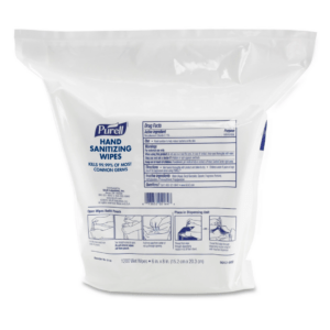 Purell, Hand Sanitizing Wipes, 6 x 8, White, 1200Refill Pouch